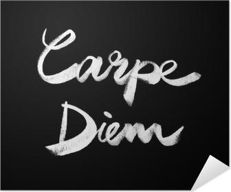 Carpe diem. Handwritten quote Poster