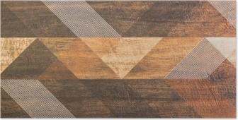 Poster Carreaux avec des formes géométriques
