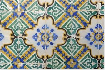 Poster Carreaux traditionnels portugais, Tuiles