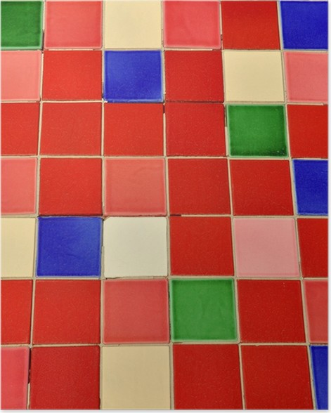Carrelage Céramique Provence Coloré Fond Et Texture Poster - Carrelage i colori