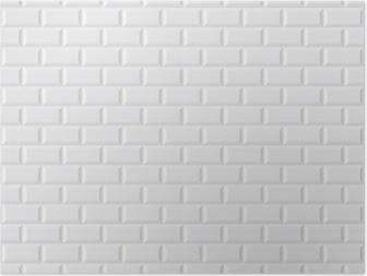 Papier peint CARRELAGE métro blanc • Pixers® - Nous vivons pour changer