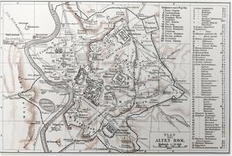 Poster Carte de la Rome antique