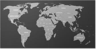 Poster Carte politique du monde