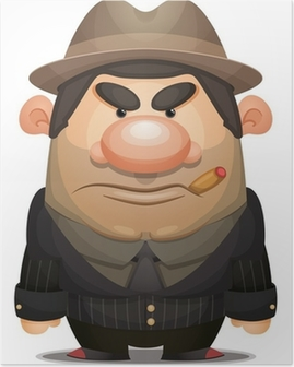 Cartoon Mobster Poster