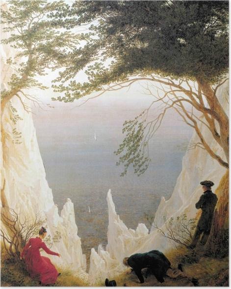 Poster Caspar David Friedrich - Falaises de craie sur Rügen - Reproductions