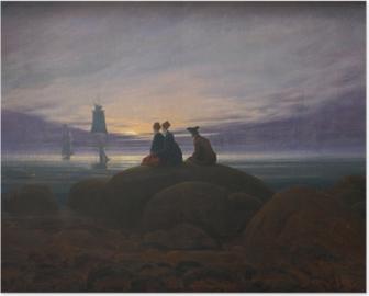 Poster Caspar David Friedrich - Maansopgang aan de zee II