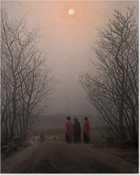 Poster Caspar David Friedrich - Matin de Pâques - Reproductions
