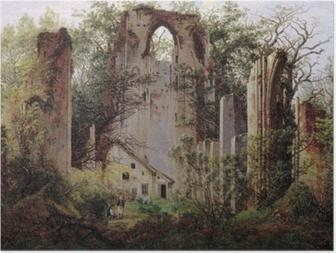 Caspar David Friedrich - Monastery ruin Eldena Poster