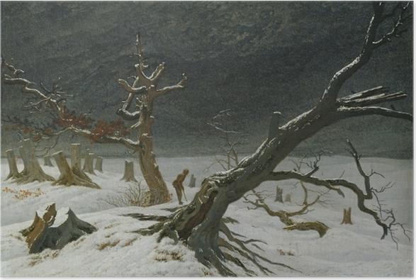 Póster Caspar David Friedrich - Paisaje invernal - Reproductions