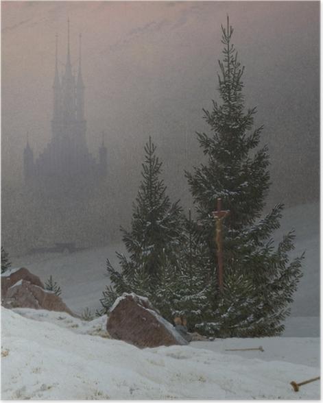 Poster Caspar David Friedrich - Paysage d'hiver II - Reproductions