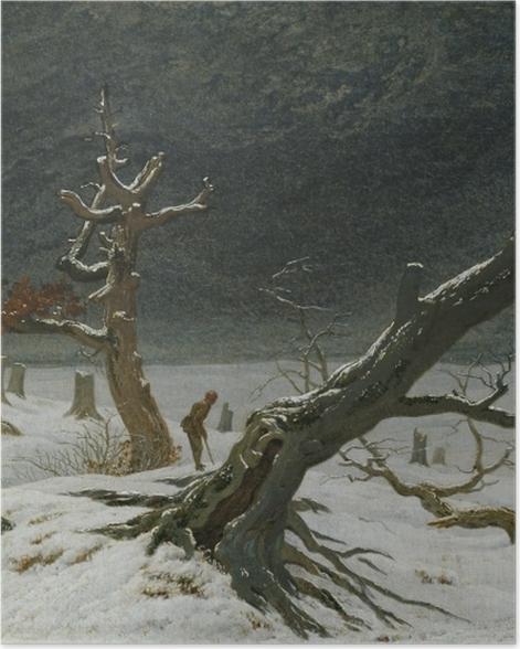 Poster Caspar David Friedrich - Paysage d'hiver - Reproductions