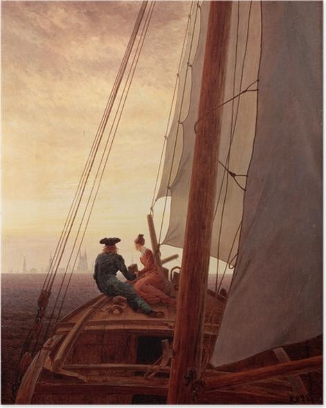 Poster Caspar David Friedrich - Sur un bateau à voile - Reproductions