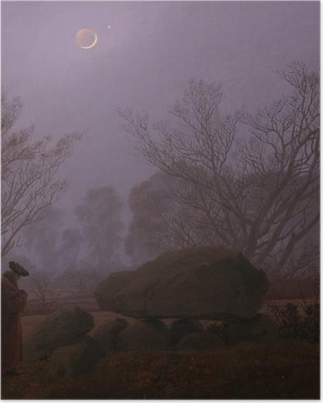 Poster Caspar David Friedrich - Une promenade au crépuscule - Reproductions