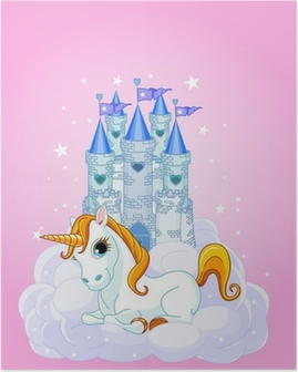 Castle and Unicorn Poster