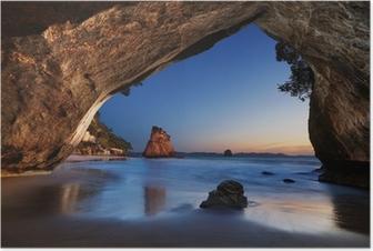 Póster Catedral Cove, Nueva Zelanda