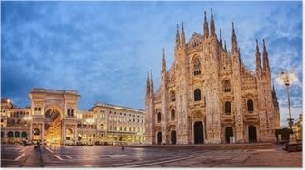 Poster Cathédrale de Milan, Italie