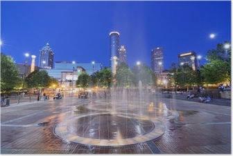 Centennial Olympic Park in Atlanta, Georgia Poster