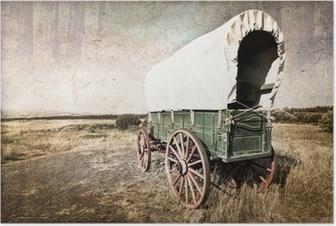 Chariot western vintage Poster