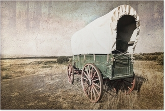 Poster Chariot westerse vintage
