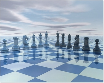 chess surreal background Poster