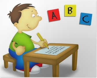 Child Studying 1 Poster