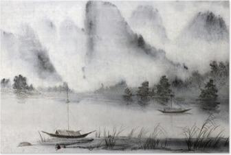 Poster Chinees schilderij