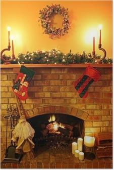 Christmas Fireside Poster