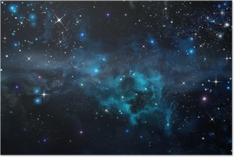 Poster Ciel étoilé dans l'espace ouvert