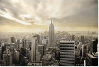 Poster Ciel nuageux sur Manhattan