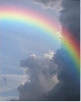 Póster Cielo arco iris clouds