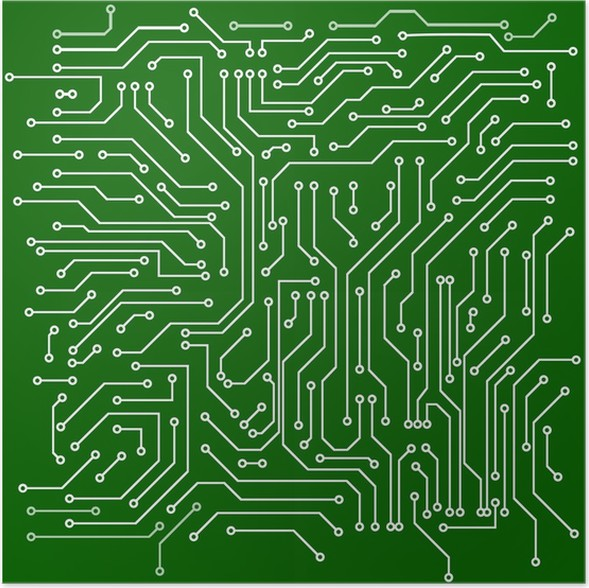 Circuit board vector background Poster • Pixers® • We live to change
