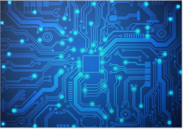 circuit board vector background poster pixers we live to change