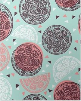 Poster Citrus patroon graphics