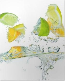 Poster Citrusvruchten spatten