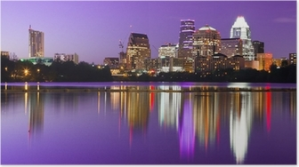 City Skyline - Austin, TX Poster