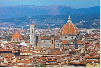 Poster Cityscape van Florence