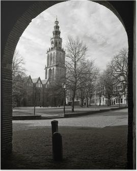 Poster Cityscape van Groningen met de Martinitoren