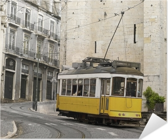 classic yellow tram of Lisbon, Portugal Poster