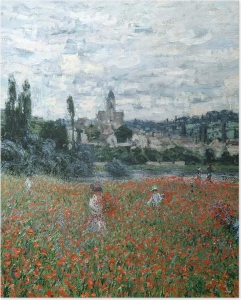 Poster Claude Monet - Champ de coquelicots près de Vétheuil - Reproductions