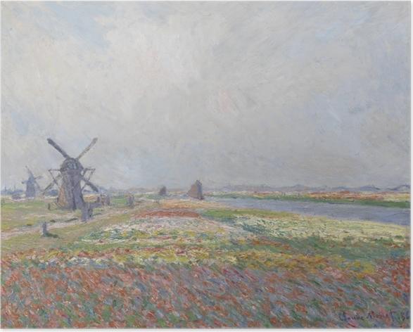 Poster Claude Monet - Champs de tulipes en Hollande - Reproductions
