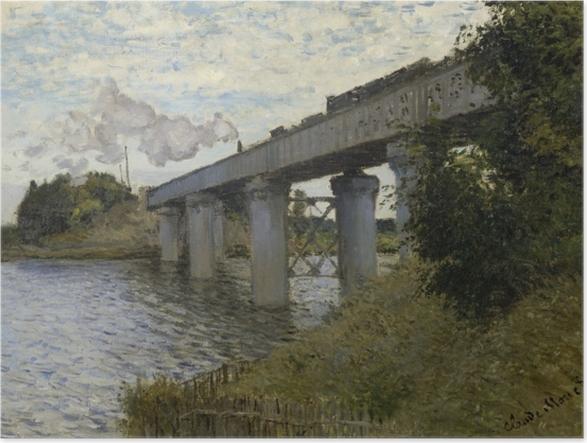 Póster Claude Monet - El puente ferroviario en Argenteuil - Reproducciones