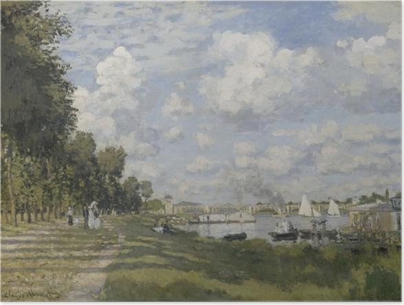 Póster Claude Monet - El puerto deportivo en Argenteuil - Reproducciones