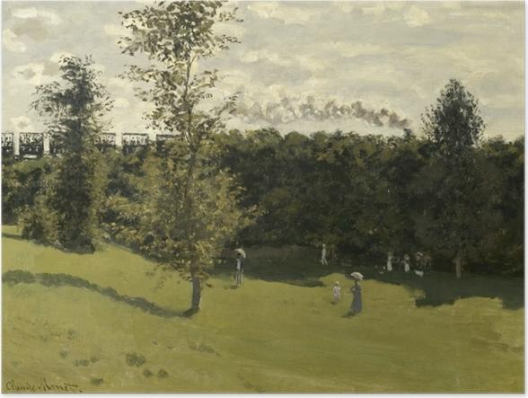 Póster Claude Monet - El tren en el País - Reproducciones