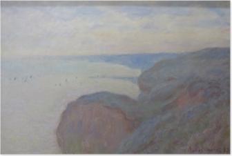 Poster Claude Monet - Falaises près de Dieppe