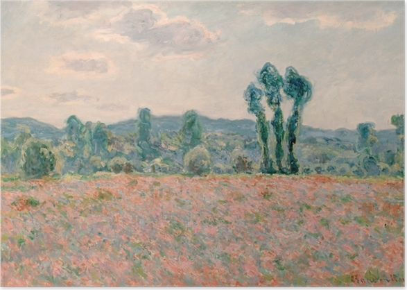 Claude Monet - Field with Poppies Poster - Reproductions