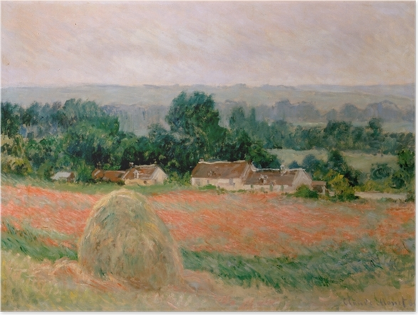 Póster Claude Monet - Haystack en Giverny - Reproducciones