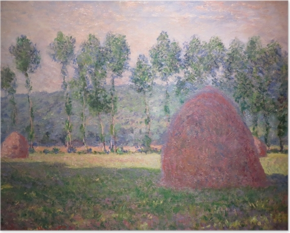 Claude Monet - Haystacks near Giverny Poster - Reproductions