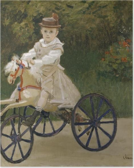 Poster Claude Monet - Jean Monet sur son cheval mécanique - Reproductions