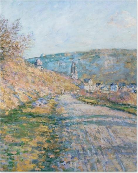 Poster Claude Monet - La route de Vétheuil - Reproductions