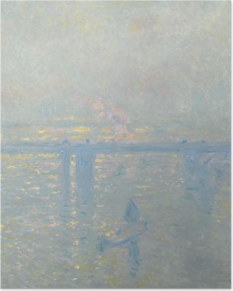 Poster Claude Monet - La Tamise à Charing-Cross - Reproductions